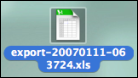 Normal XLS Icon on the Desktop